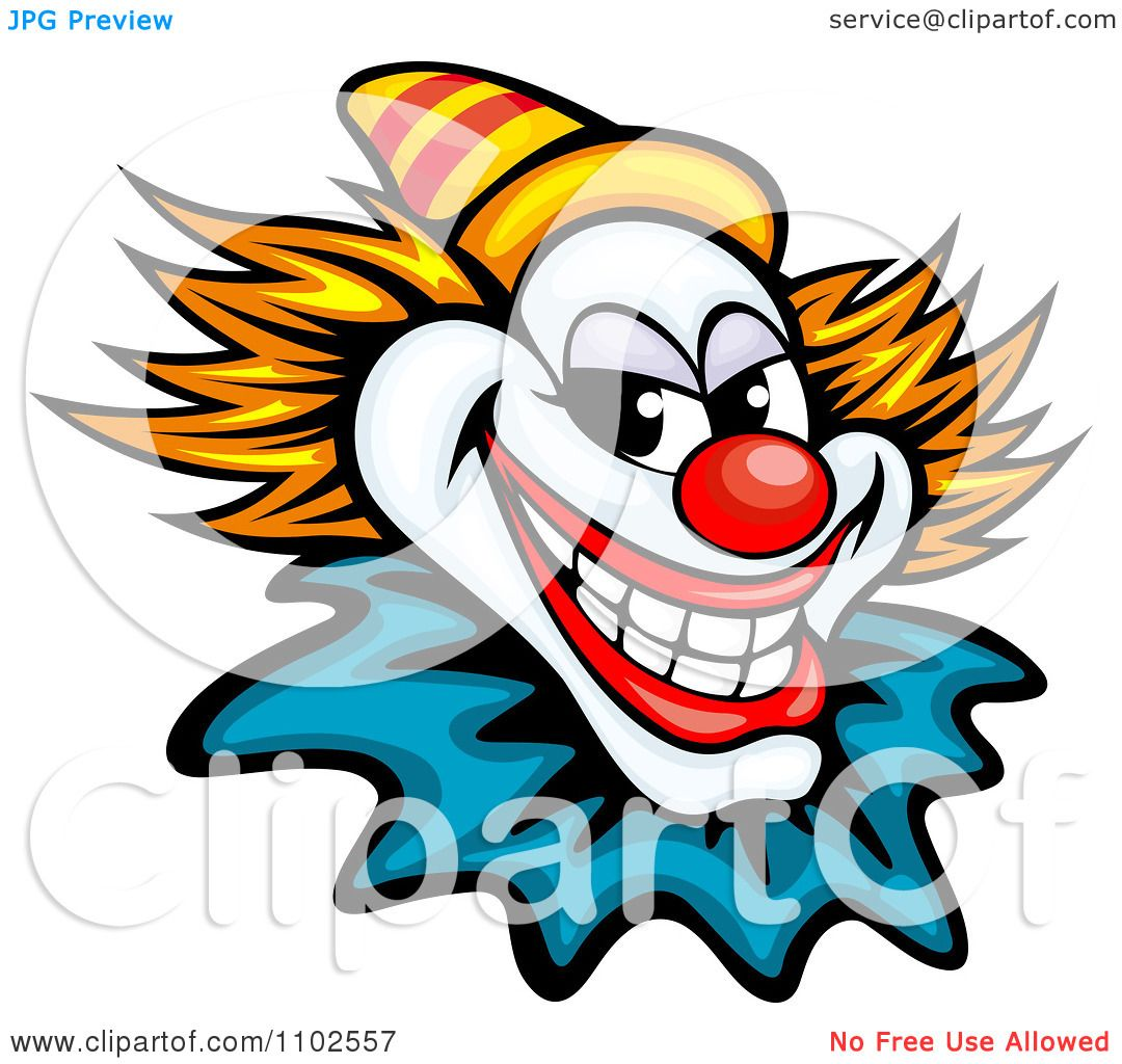 1080x1024 Clipart Grinning Evil Clown Or Joker With A Yellow Hat