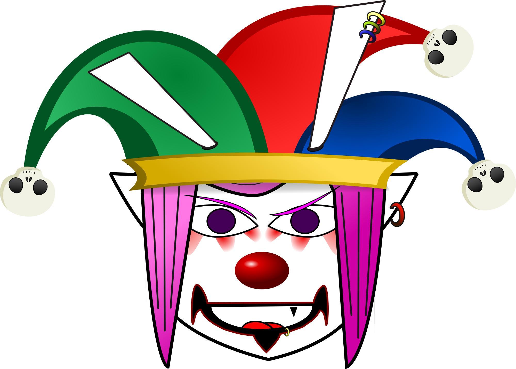 2000x1429 Evil Clown Clipart