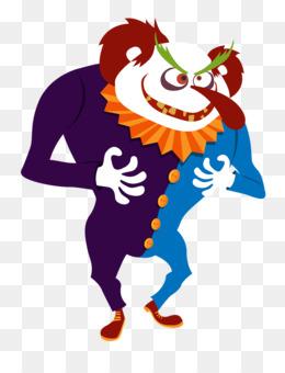 260x340 Joker Evil Clown Face Clip Art