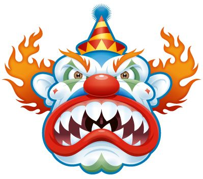399x352 New Background And Wallpapers Pictures Evil Clown Clowns