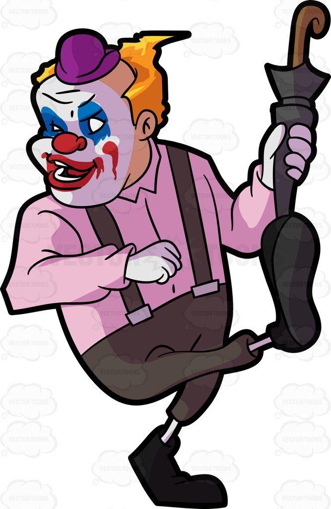 667x1024 A Creepy Clown Holding An Umbrella Creepy Clown