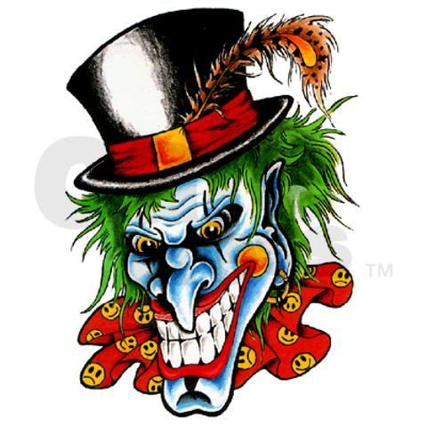 480x480 Evil Clown Tattoo Flash