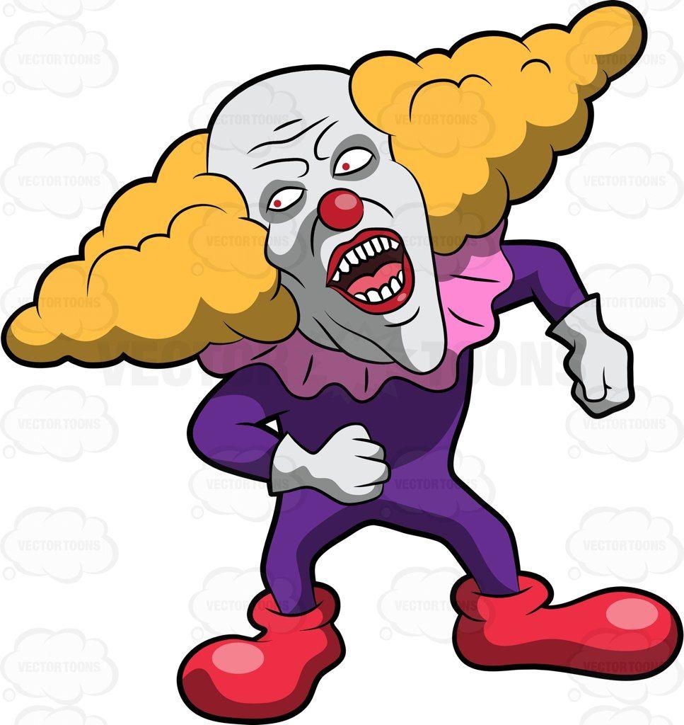 967x1024 A Creepy Clown With A Weird Wig Creepy Clown