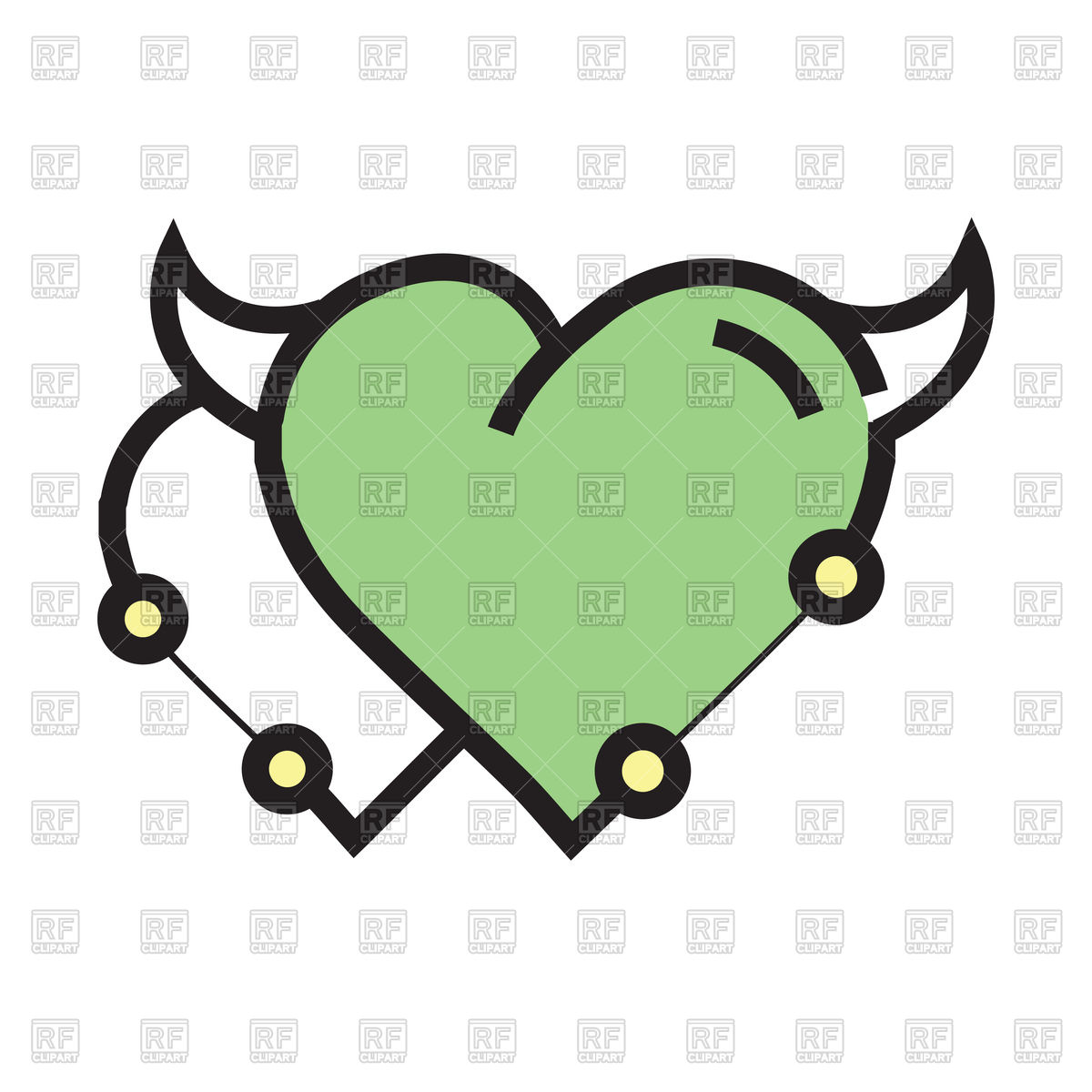 1200x1200 Evil Green Hearts Clipart Collection