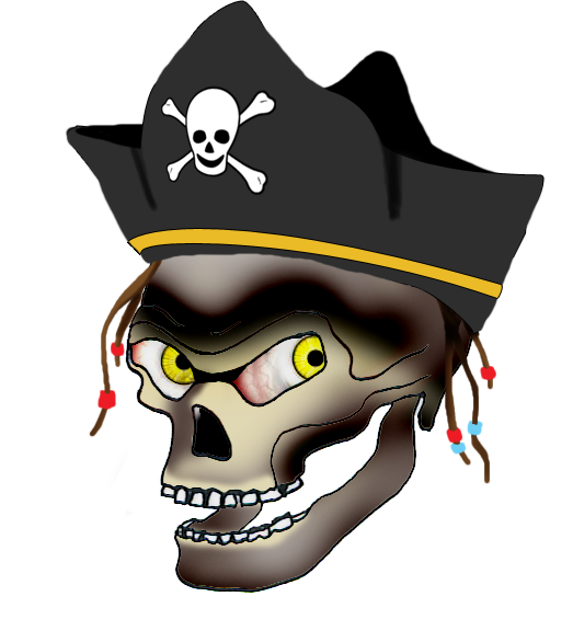 523x576 Cool Skull Clip Art (And Funny!)