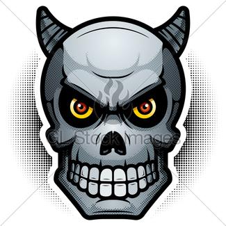 325x325 Evil Demon Skull Illustration Gl Stock Images