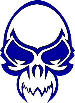 256x351 Skull Evil Blue