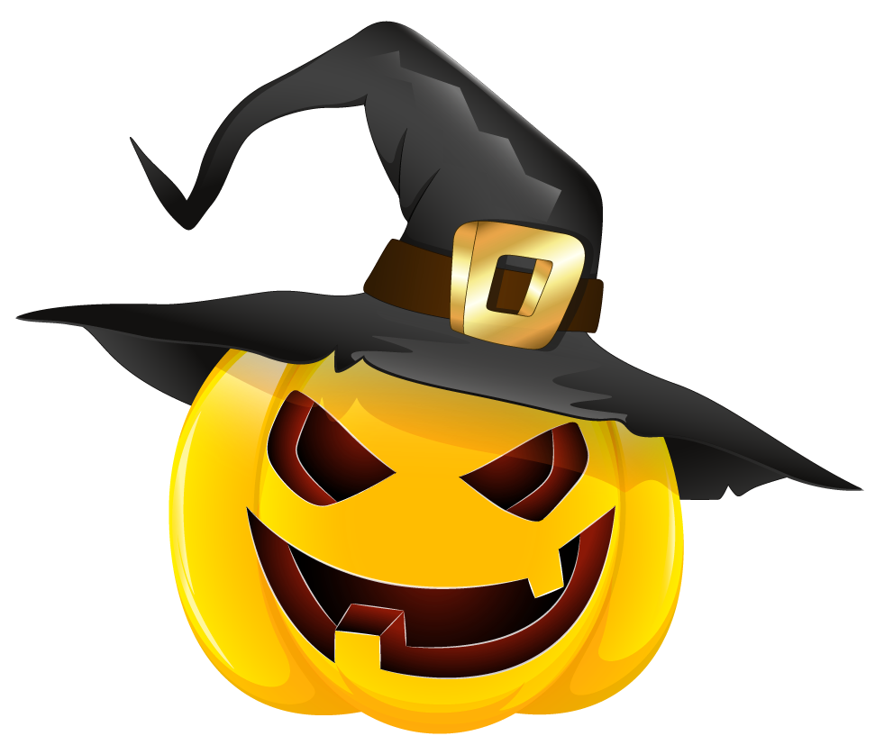 971x837 Halloween Evil Pumpkin With Witch Hat Clipartu200b Gallery