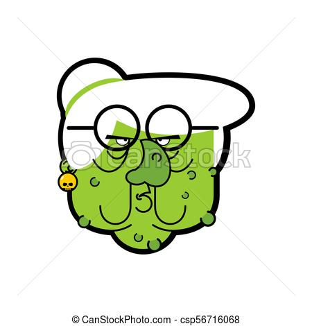 450x470 Old Wicked Witch. Green Hag With Warts Clip Art Vector