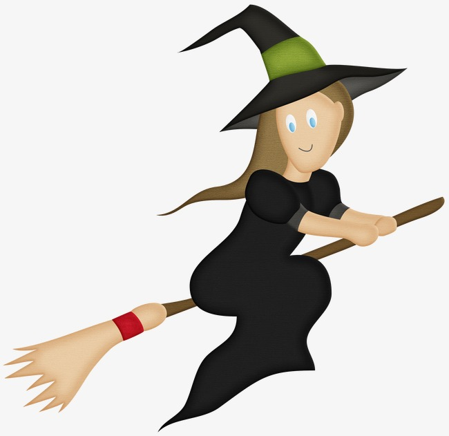 650x631 Witch Riding A Broom, Witch, Evil, Wizard Png Image And Clipart