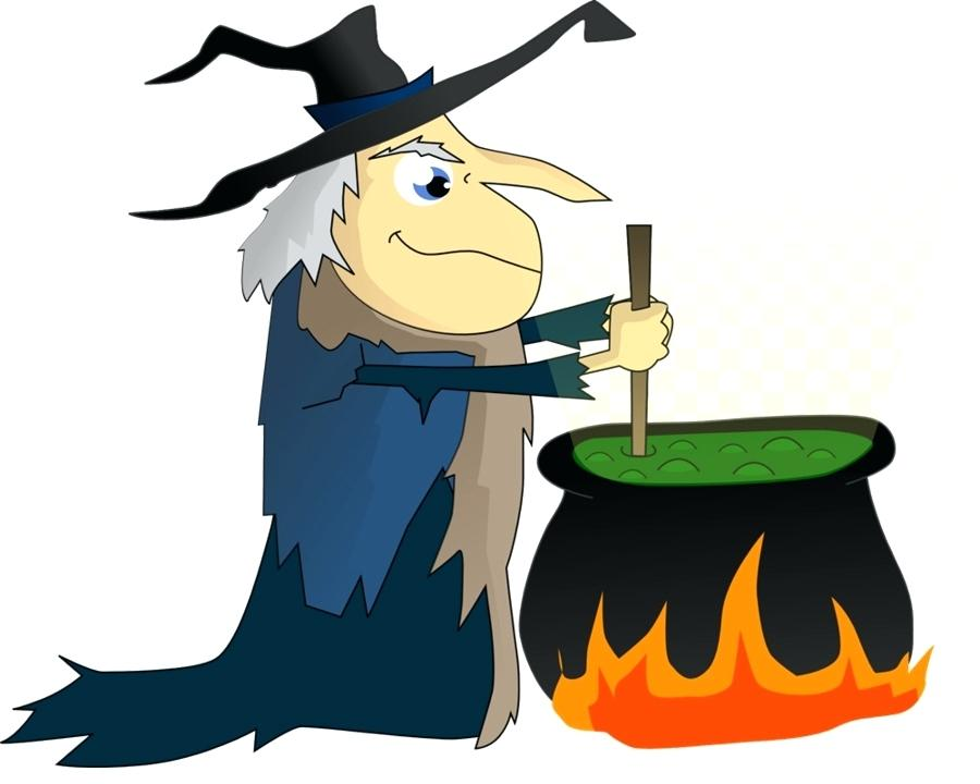 900x720 Clip Art Witches Cute Little Witch In Costume With Boiling