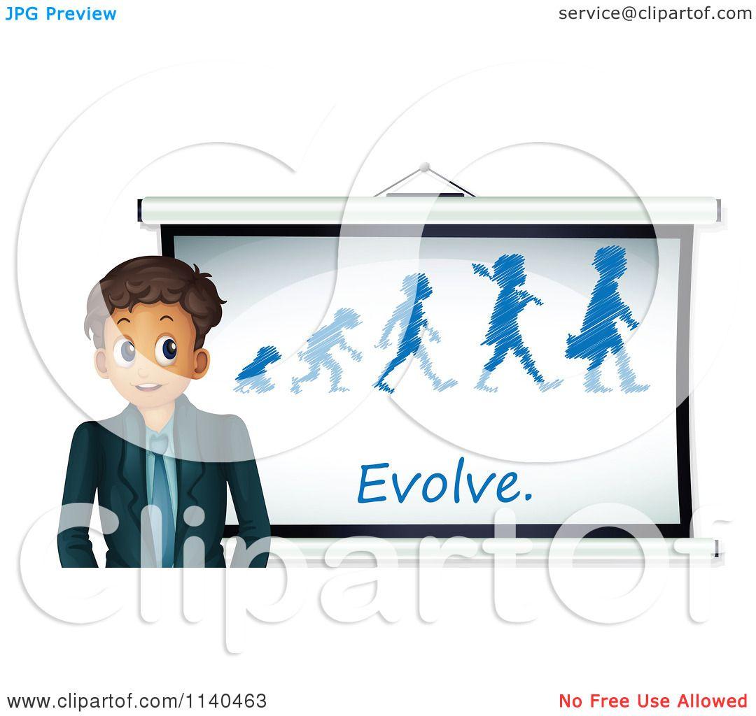 1080x1024 Cartoon Of A Businessman Or Teacher Discussing Evolution 3