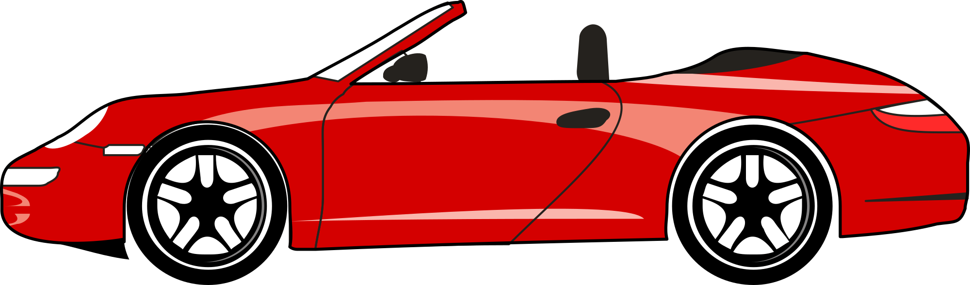 2000x588 Cartoon Convertible Car Group