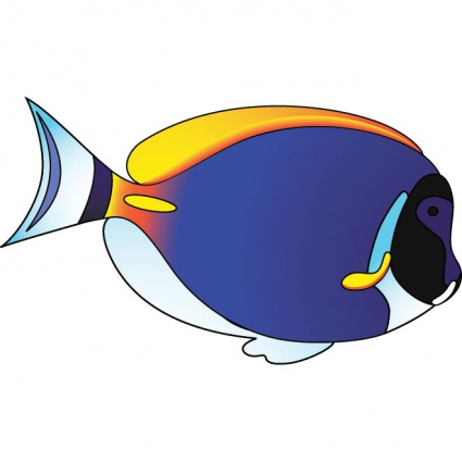 425x425 Free Clipart Of Tropical Fish