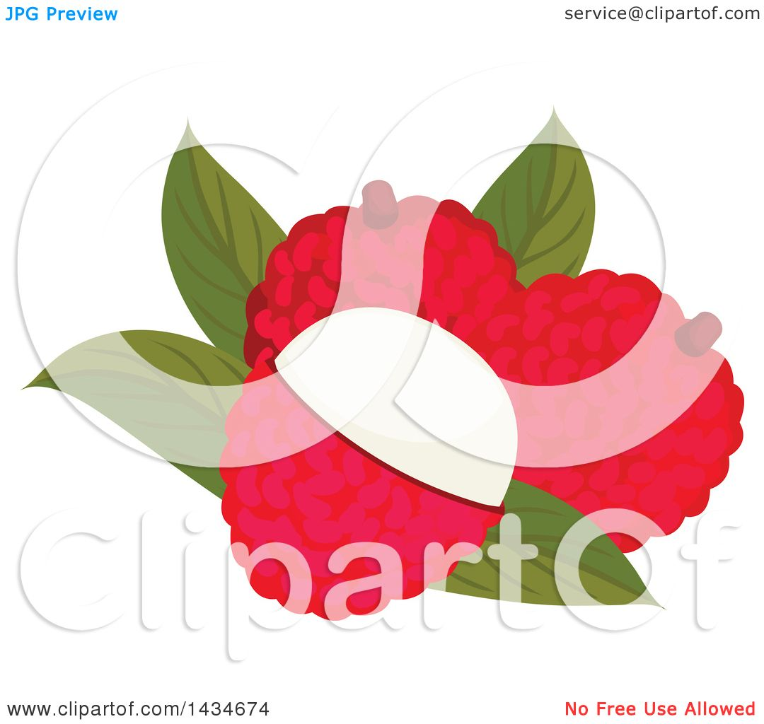 1080x1024 Clipart Of Tropical Exotic Lychee Fruit