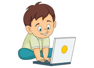 195x142 Clipart Boy On Computer Student Using Clip Art Vector Image