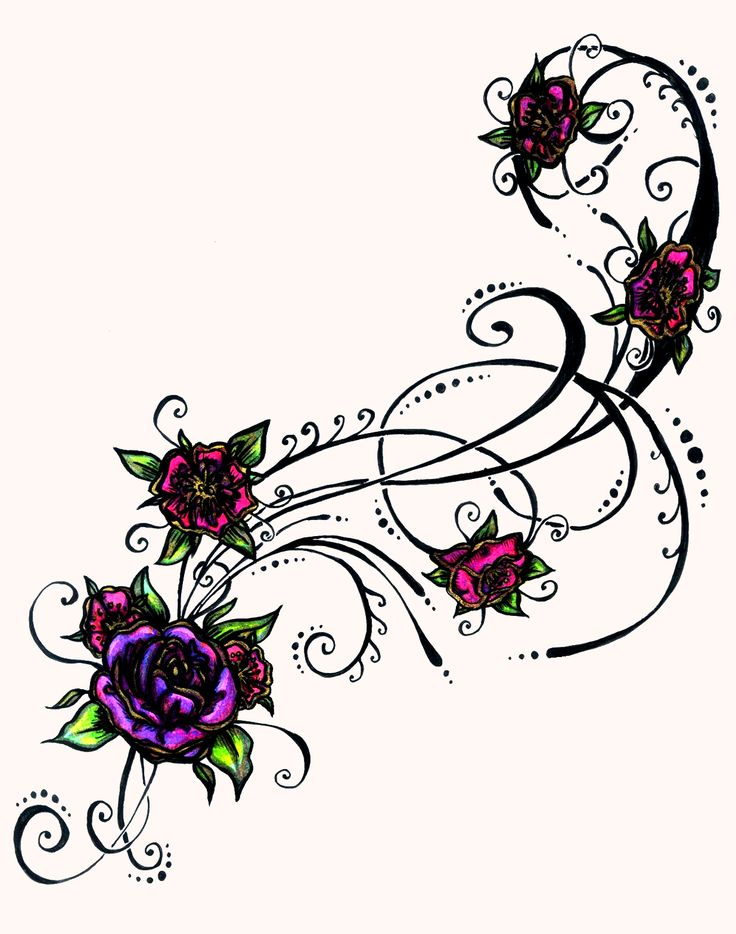 736x934 Purple Rose Clipart Colourful Flower