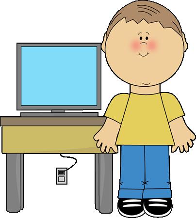 404x450 Boy Classroom Computer Technology Expert Clip Art
