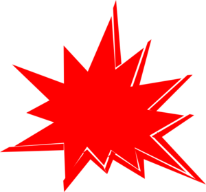 300x279 Red Explosion Clip Art