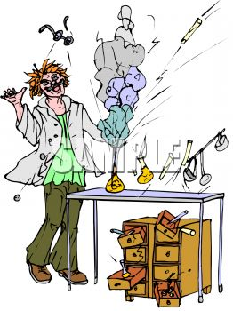 262x350 Royalty Free Clip Art Image Lab Experiment Explosion