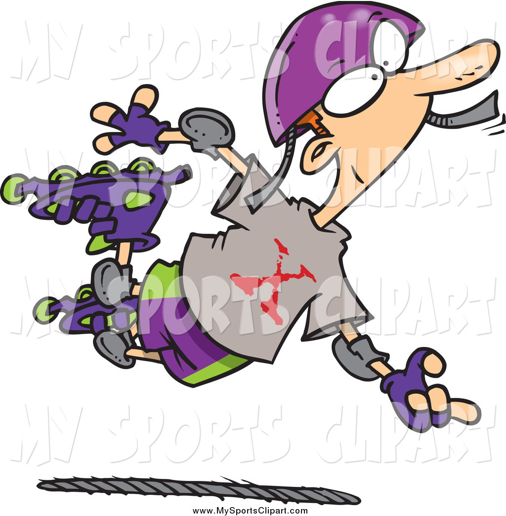 1024x1044 Sports Clip Art Of A Extreme Roller Blader White Boy By Toonaday