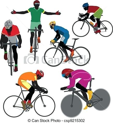 435x470 Cyclist Clip Art Cyclist Silhouettes Cycling Clipart Graphics