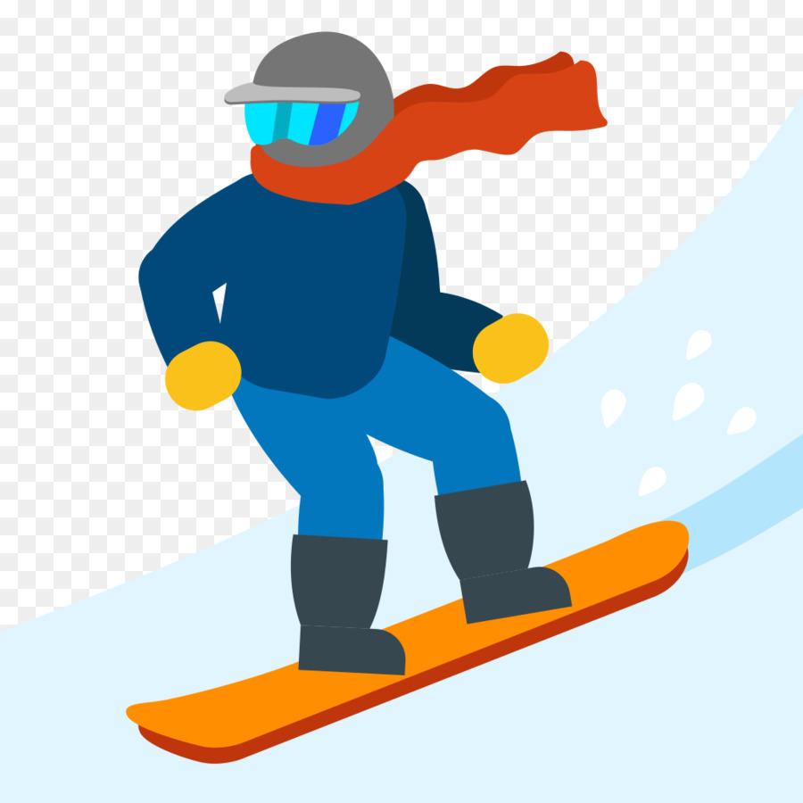 900x900 Emoji Snowboarding Skiing Sport Clip Art