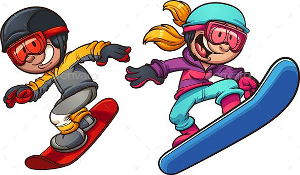 590x345 Snowboard Kids By Memoangeles Graphicriver