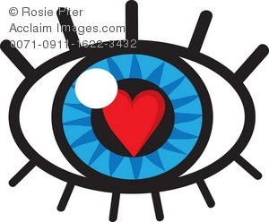 300x248 Clip Art Illustration Of An Eye With A Heart Of Love Reflection