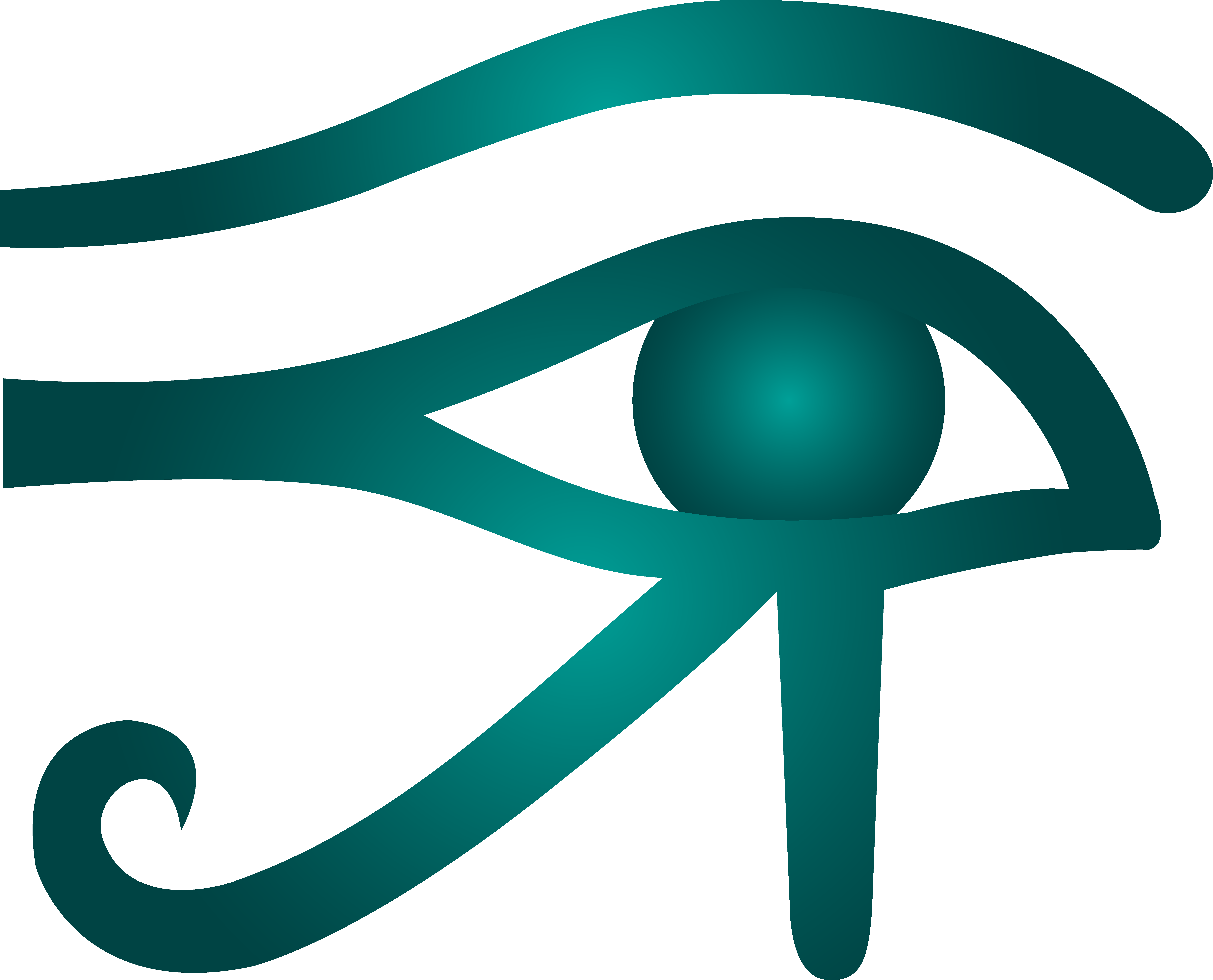 8537x6900 Eye Of Horus Teal Clip Art