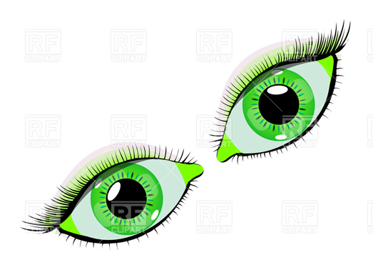 523x392 Green Eyes Royalty Free Vector Clip Art Image