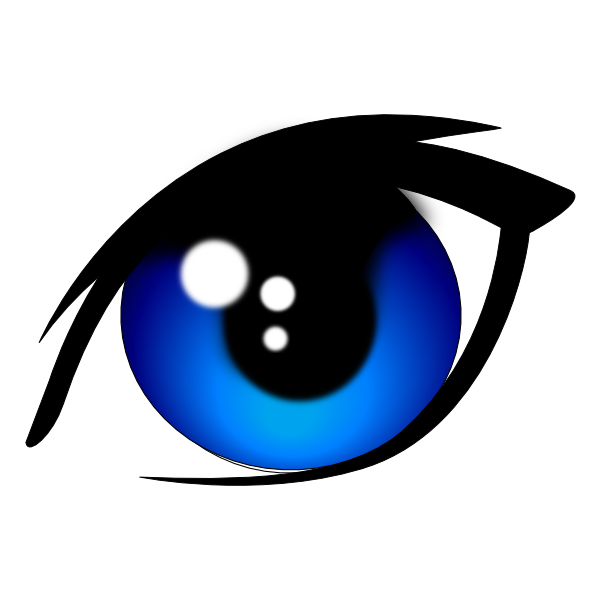 600x600 Blue Vector Eye Clip Art