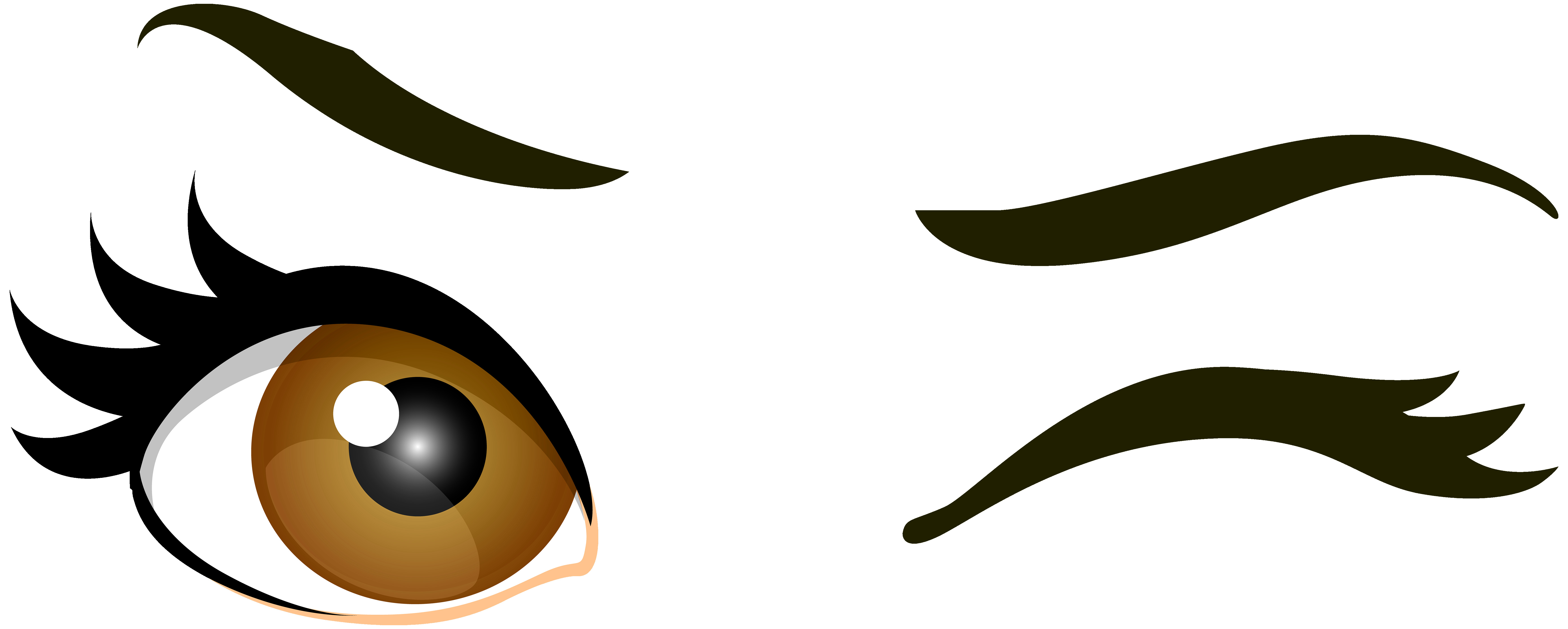 7000x2809 Brown Winking Eyes Png Clip Art Best Web Clipart In Eye