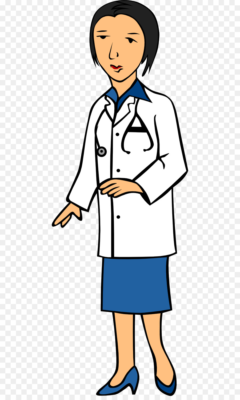 900x1500 Physician Woman Female Clip Art