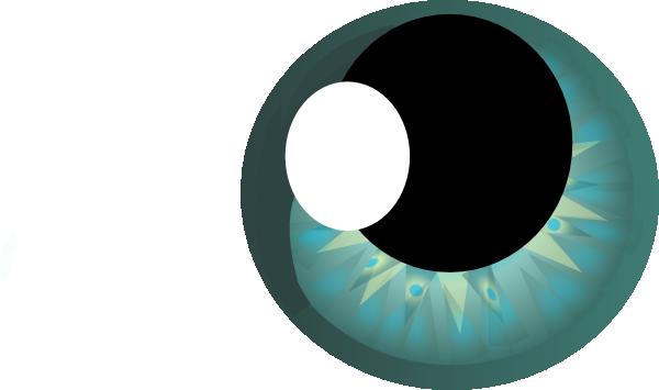 600x355 Teal Starburst Eye Clip Art