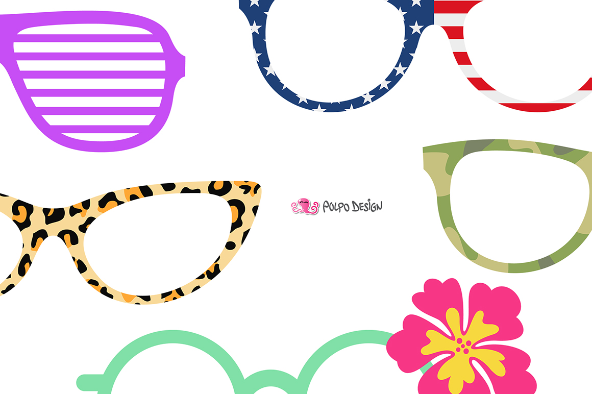 1160x772 50 Glasses Clip Art By Polpo Design Design Bundles