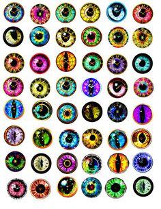 236x305 Printable Irises For Eyes Sculpting Dolls Amp Art