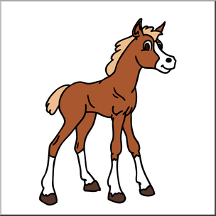 304x304 Clip Art Cartoon Horse Foal Color I Abcteach