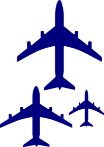210x296 Flying Blue Airplanes Clip Art