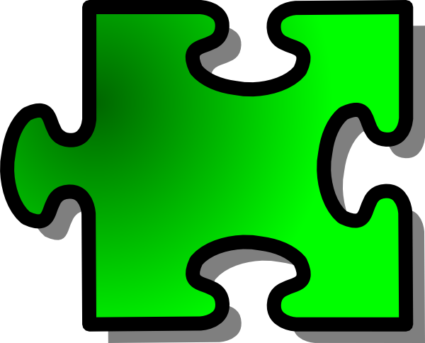 600x484 Green Jigsaw Piece 14 Clip Art