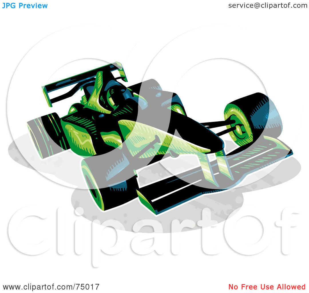 1080x1024 Royalty Free (Rf) Clipart Illustration Of A Green And Black F1