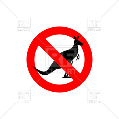 400x400 Stop Kangaroo Sign Royalty Free Vector Clip Art Image