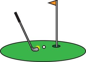 300x215 Golf Putt Clipart