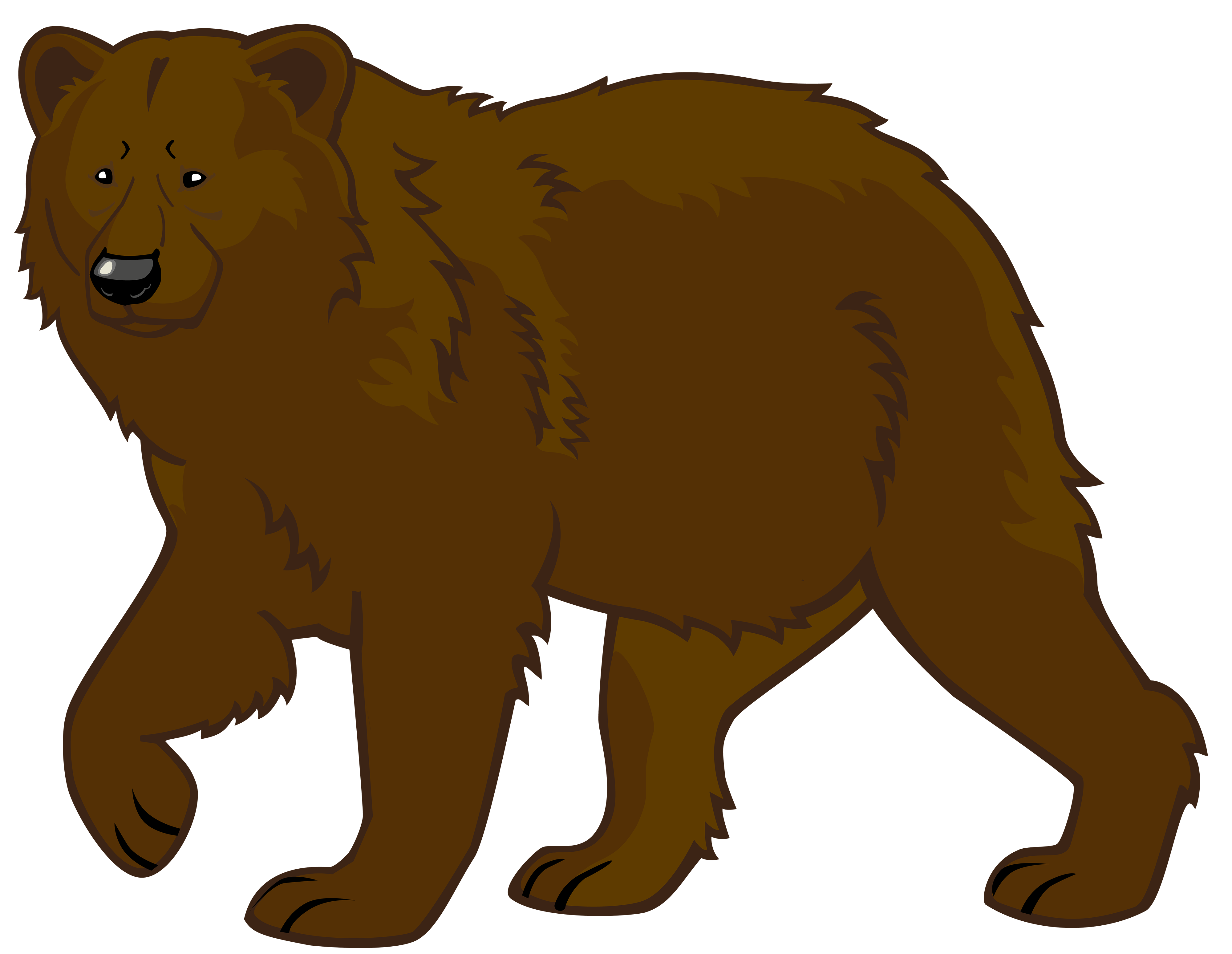 4000x3097 Grizzly Bear Clipart Angry