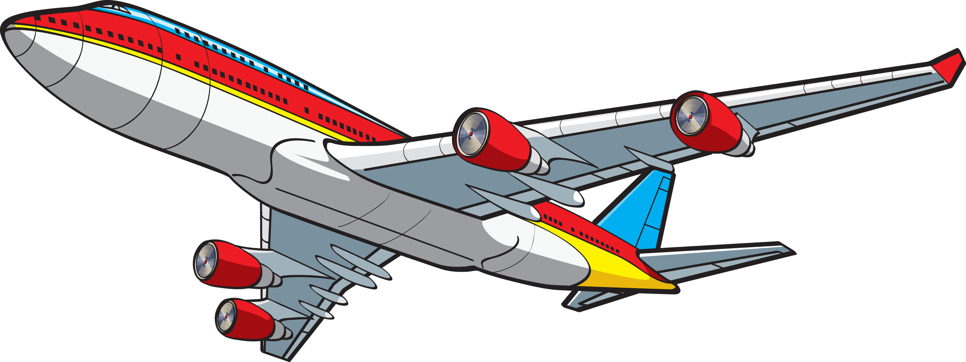 3072x1151 Aircraft Clipart Animated