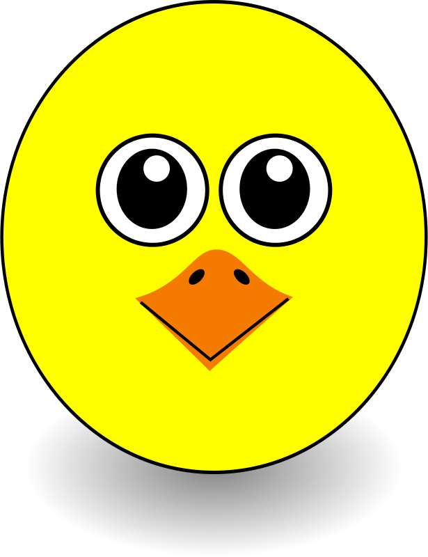 615x800 Free Clip Art Funny Chick Face Cartoon By Palomaironique