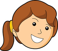195x173 Girl Happy Face Clip Art Clipart Panda
