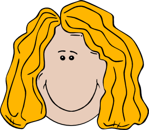 300x263 Lady Face Cartoon Clip Art Free Vector 4vector
