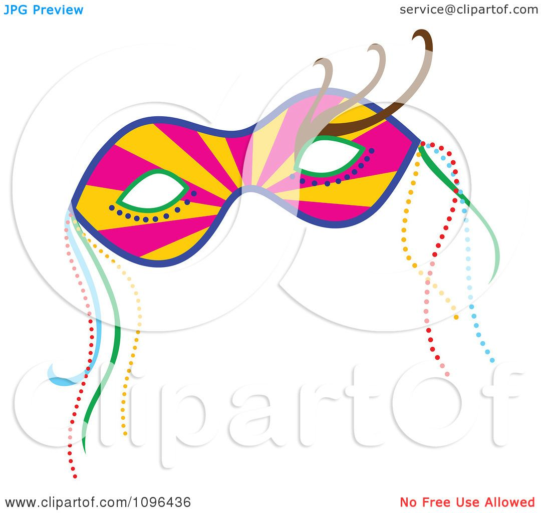 1080x1024 Clipart Ray Mardi Gras Face Mask With Beads