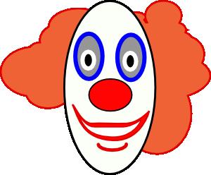 300x248 Creepy Clown Face Clip Art
